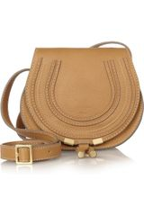 Chloé Marcie Mini Leather Shoulder Bag - Lyst