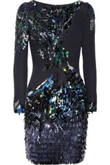 Matthew Williamson Sequined Silk Dress - Lyst
