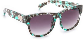Matthew Williamson Printed Curved Square Sunglasses - Lyst