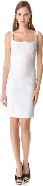 Versace Sleeveless Shaped Dress - Lyst