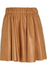Acne Romantic Leather Mini Skirt - Lyst