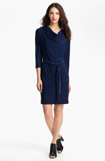 Alex & Ava Print Faux Wrap Dress Petite - Lyst