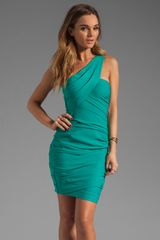 BCBGMAXAZRIA Single Strap Mini Dress - Lyst