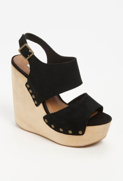 Steve Madden Auraa Wedge Sandal in  (end of color list black suede) - Lyst