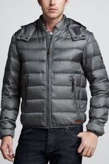 Burberry Brit Hooded Puffer Jacket - Lyst