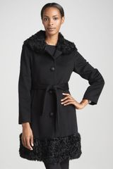 Dale Dressin Curly Fur Wool Coat - Lyst