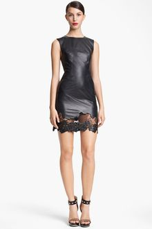 Jason Wu Lamb-skin Leather Lace Sheath Dress - Lyst