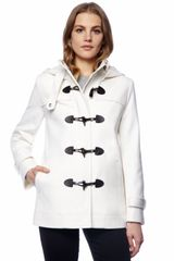 Michael by Michael Kors Hooded Toggle Coat - Lyst