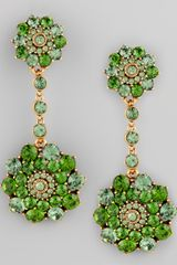Oscar de la Renta Evergreen Crystal Drop Earrings - Lyst