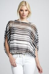 Rachel Zoe Noel Striped Batwing Top - Lyst