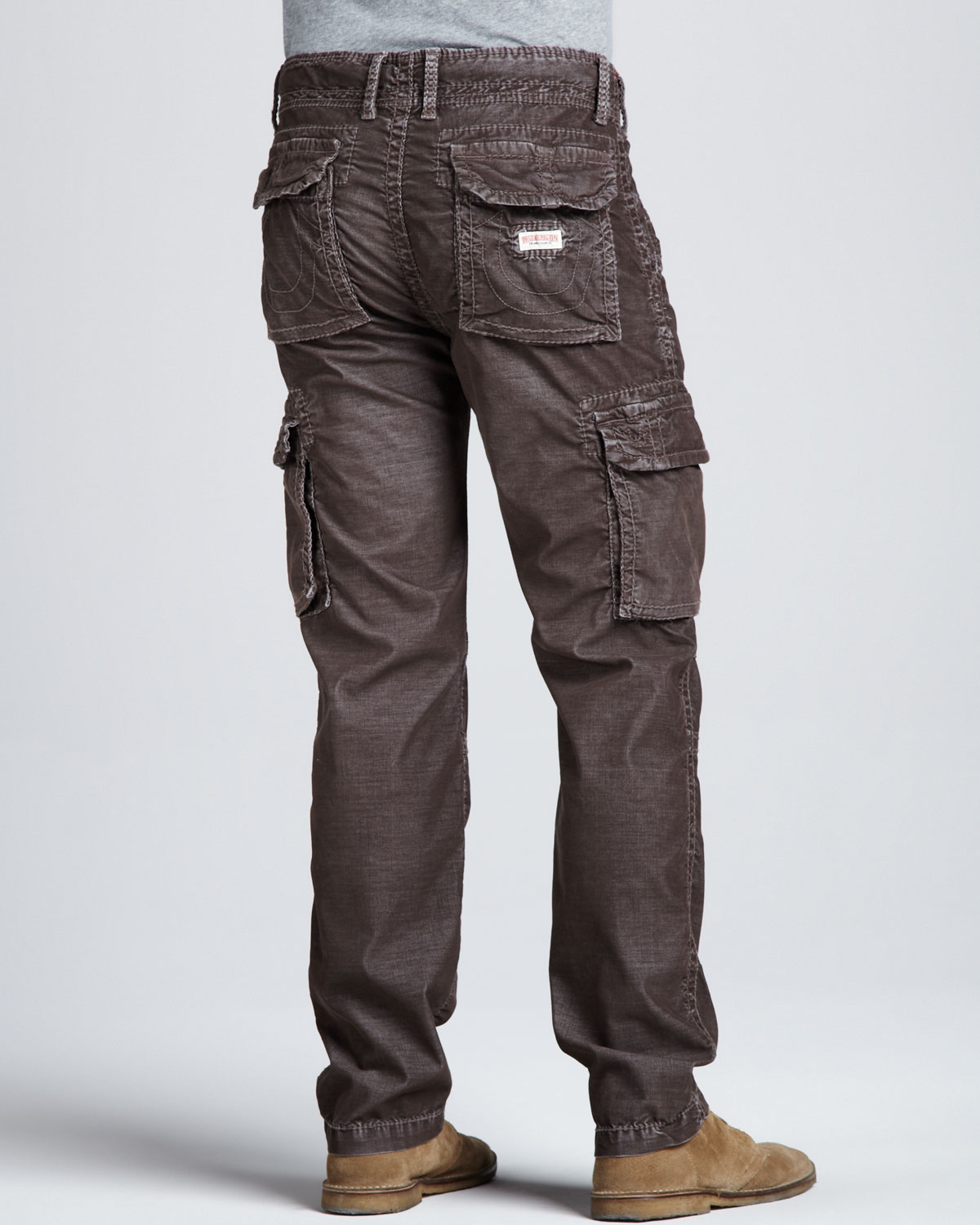 True Religion Anthony Corduroy Cargo Pants Brown In Brown