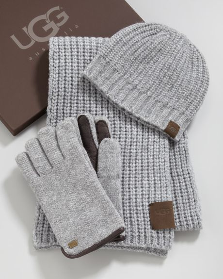 Ugg Hat Scarf Gloves Box Set In Gray For Men Large Xl Lyst
