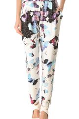 3.1 Phillip Lim Scrapbook Floral Draped Trousers - Lyst