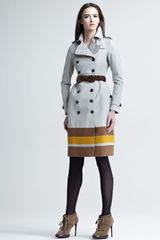 Burberry Prorsum Stripehem Cotton Trenchcoat - Lyst