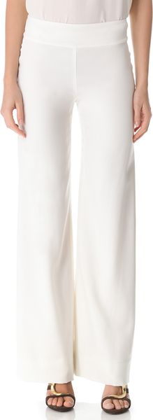 Donna Karan New York Wide Leg Trousers - Lyst