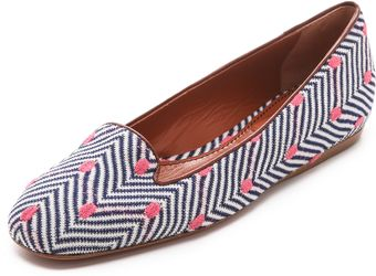Missoni Square Top Flats - Lyst