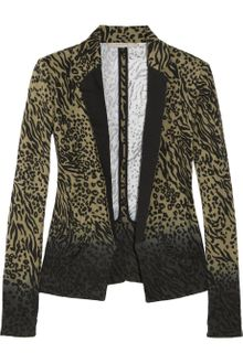 Preen Line Bridget Animalprint Stretchcotton Drill Blazer - Lyst