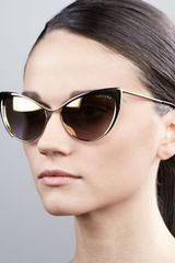 Tom Ford Nastasya Metal Cateye Sunglasses - Lyst