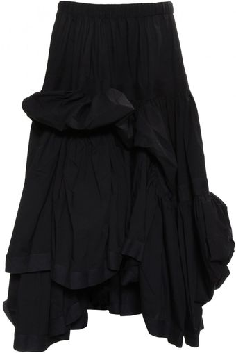 Y-3 Poplin Multi Tiered Skirt Black - Lyst