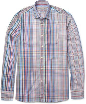 Etro Fadingcheck Cotton Shirt - Lyst