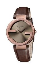 Gucci Interlocking Collection Brown Pvd Case Watch with Brown Dial and Strap 37mm - Lyst