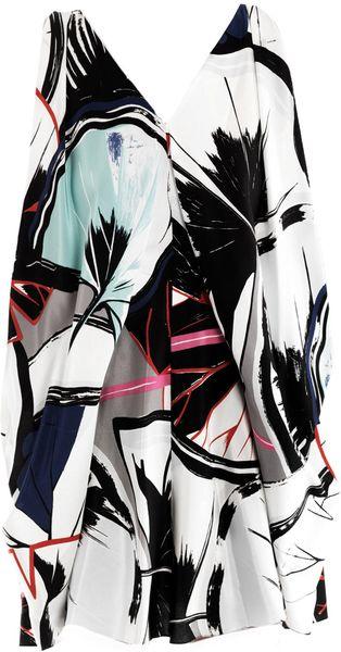 Balenciaga Ginko-Print Ethereal Dress in Multicolor (multicoloured)