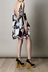 Balenciaga Ginko print Ethereal Dress in Multicolor (multicoloured) - Lyst