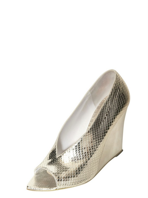 sale best prices Burberry Prorsum Snakeskin Metallic Wedges outlet good selling big discount clearance sale online EjfpYL17