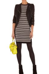 Karen Millen Tribal Stripe Knit Dress - Lyst