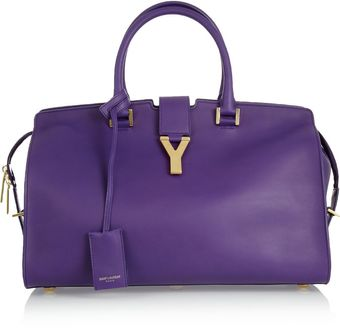Yves Saint Laurent The Cabas Medium Leather Tote - Lyst