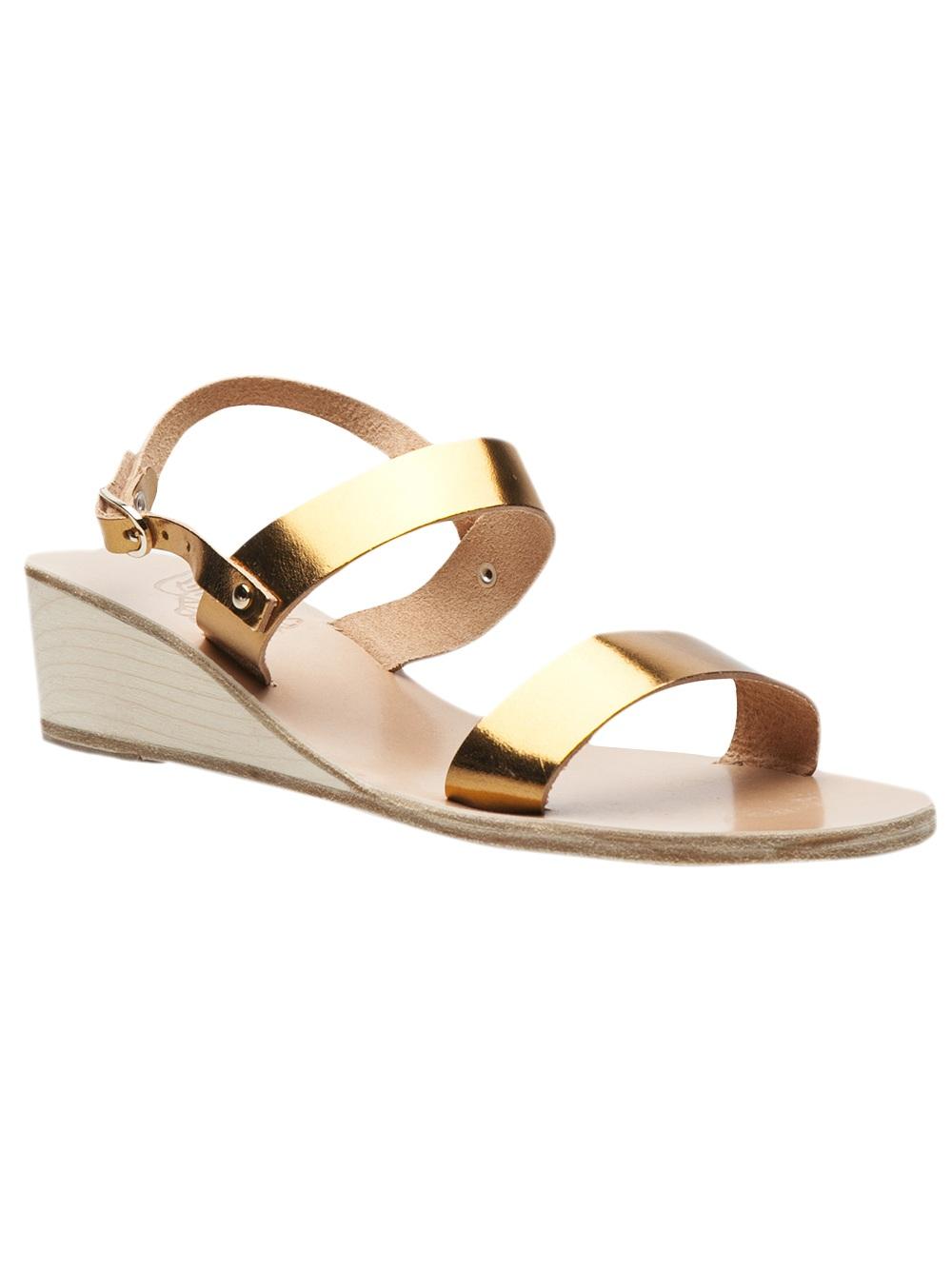 96a782f819a0 Lyst - Ancient Greek Sandals Clio Wedge Sandal in Metallic