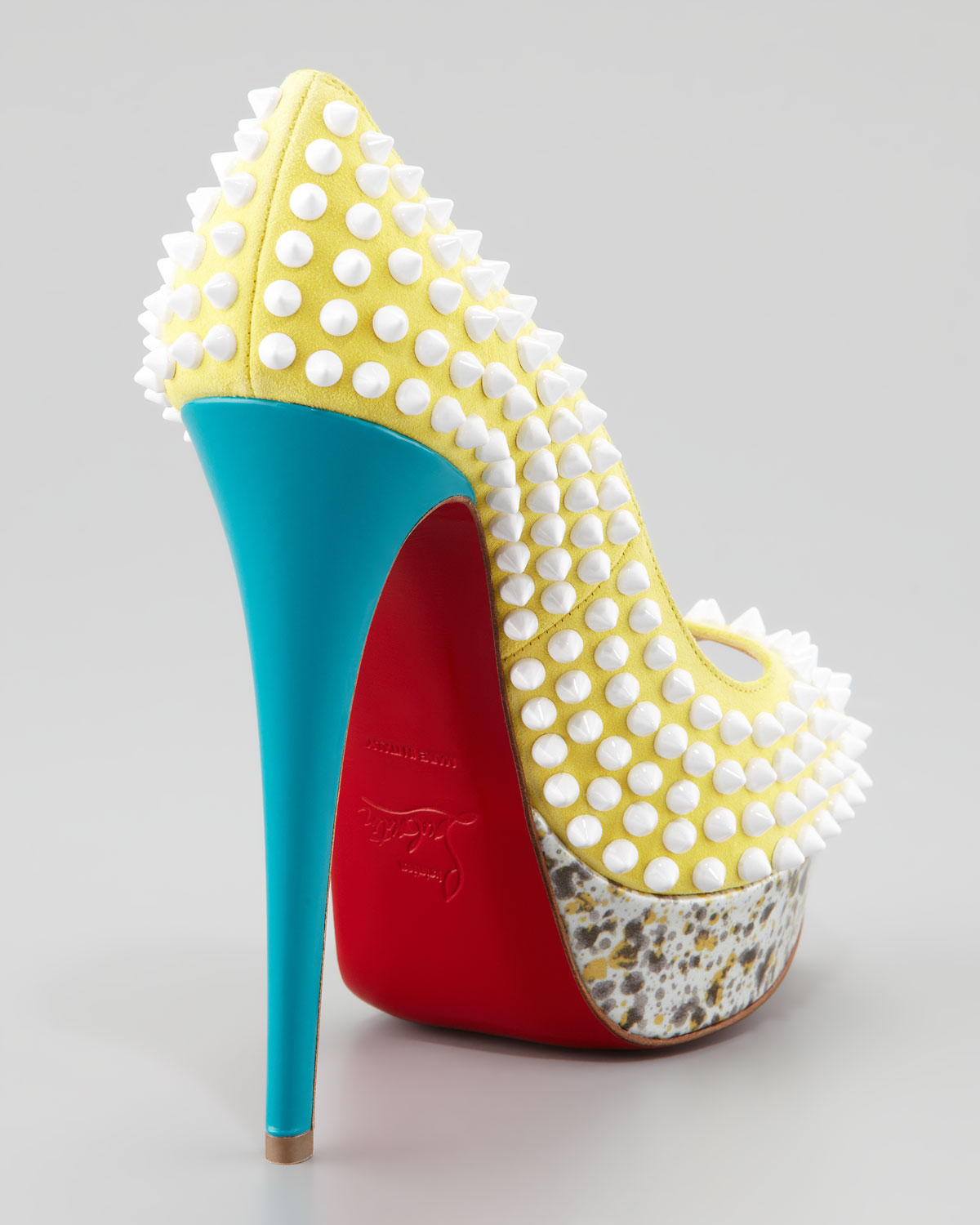 knock off mens shoes - christian louboutin lady peep toe spikes 150 pumps | Landenberg ...