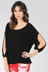 Ella Moss Stella Cut Out Top - Lyst