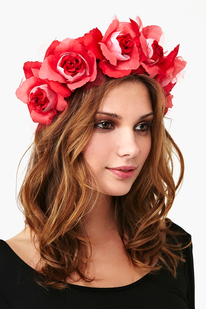 Lyst Nasty Gal Daza Rose Crown In Red