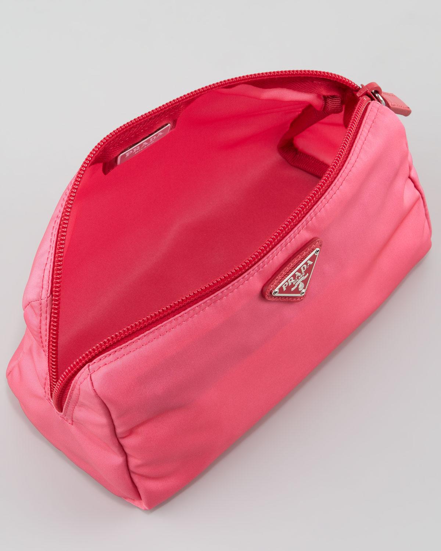 Bright pink Vela pouch Prada 2t7WWO