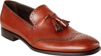 Prada Perforated Wingtip Tassel Loafer - Lyst