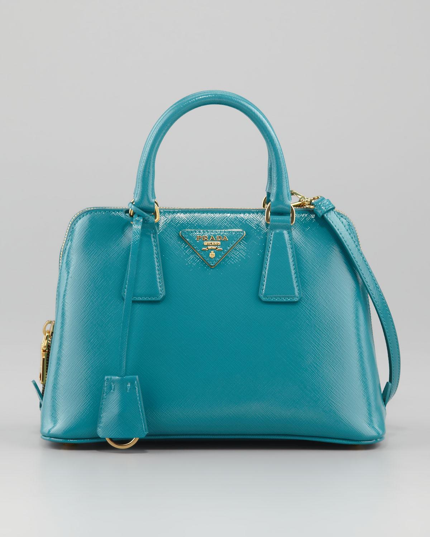 43d307b365047b canada prada green cahier mini leather shoulder bag browns cb69e b6ff3; get lyst  prada saffiano micro promenade bag in blue a179e cbcc1