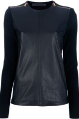 Proenza Schouler Leather Panel Top