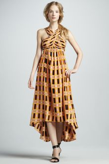 Tracy Reese Printed High-Low Crisscross Dress - Lyst
