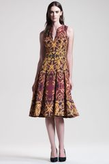 Wes Gordon Ormolu Print Key Dress - Lyst
