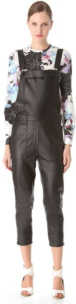 3.1 Phillip Lim Leather Overalls - Lyst