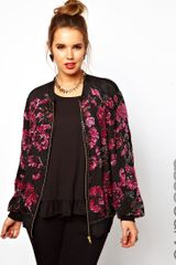 Asos Curve Bomber Jacket with Embellishment - Lyst