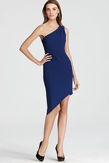 BCBGMAXAZRIA One Shoulder Dress Asymmetric Hem - Lyst