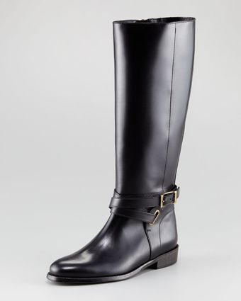 Burberry Tall Leather Boot - Lyst