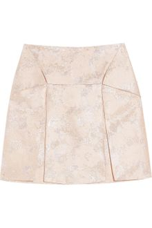 Christopher Kane Pleated Metallic Silkblend Brocade Mini Skirt - Lyst