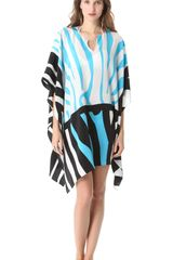 Issa Zebra Print Border Cover Up - Lyst