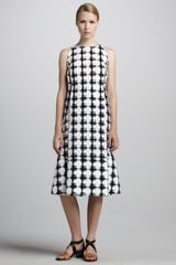 Marni Check Print A-Line Dress - Lyst