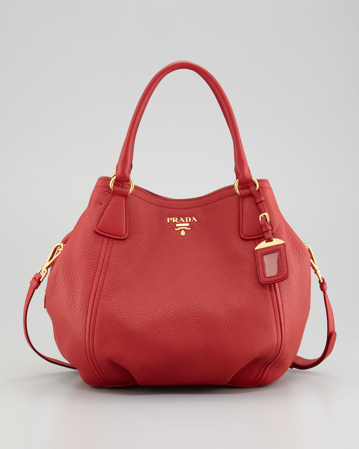 6058aa5746 ... coupon code for lyst prada vitello daino tote bag in red cca67 1a13d