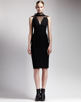 Rick Owens Sheerneck Backzip Dress - Lyst