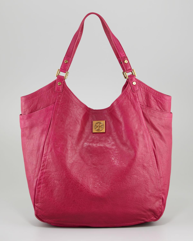69fd60b9e74 Lyst - Tory Burch Louisa Slouchy Tote Bag Royal Fuchsia in Purple